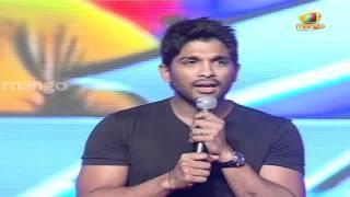 allu arjun said i love you to ram charan - racha audio launch