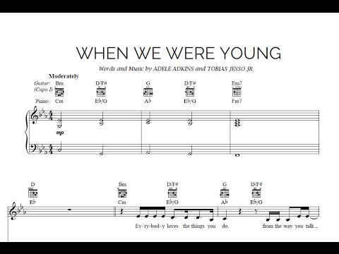 When We Were Young Adele Sheet Midi Download Youtube