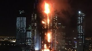 Пожар небоскрёба в Дубае Новый год 2016 Dubai skyscraper fire on New Year(Пожар небоскрёба в Дубае Новый год 2016 Dubai skyscraper fire on New Year ..., 2015-12-31T23:27:08.000Z)