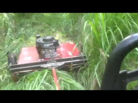 Pull Tow Behind Mower Brush Hog Project Part 16 Trail