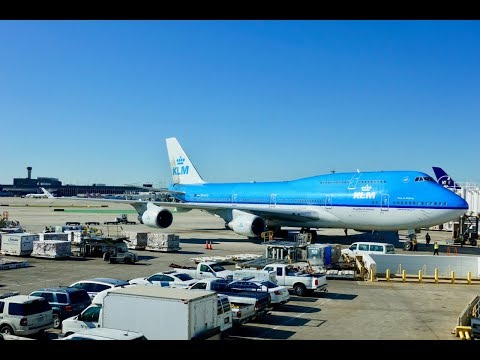 KLM Boeing 747-406M / Chicago O'Hare to Amsterdam Schiphol + O'Hare Ramp Action / 4K Video