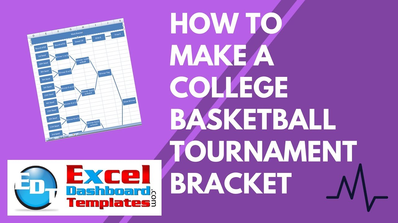 How to Make a College Basketball Tournament Bracket in Excel - YouTube