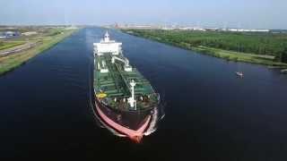 Oil chemical Tanker Ship Golden Energy Puma Noordzeekanaal Buitenhuizen