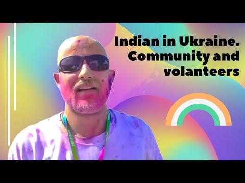 Indian in Ukraine. Community and volanteers