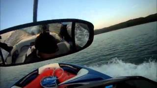 Ghost Surfing - Crazy Guy Surfing Behind a Boat With no Driver