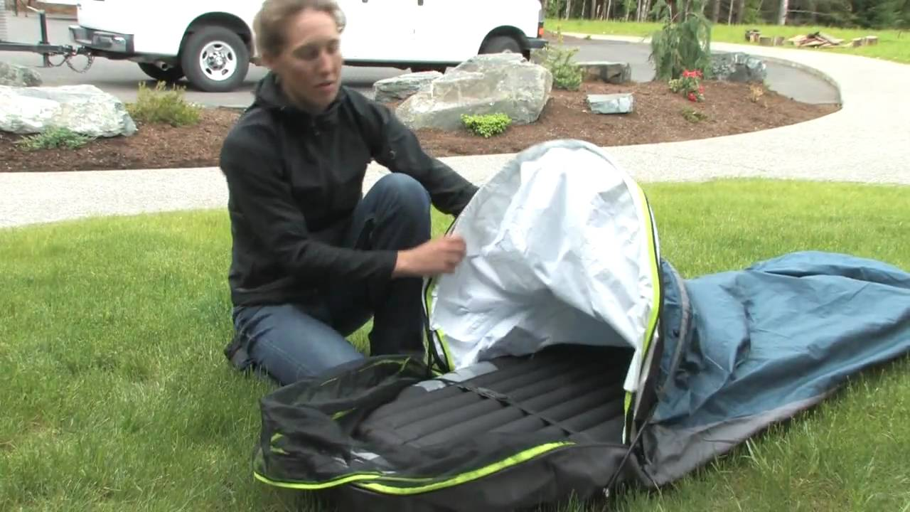 how to setup a bivy sack youtube