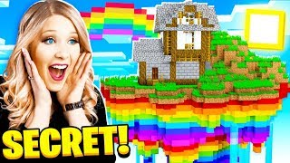 I Found a SECRET Rainbow Minecraft Sky Base!