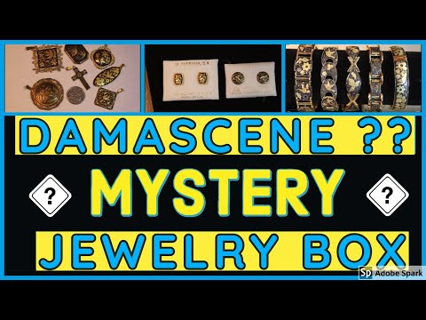 HUGE DAMASCENE Toledoware UNBOXING REVEAL | GOODWILL JEWELRY BOX Opening Unjarring Mystery Vintage