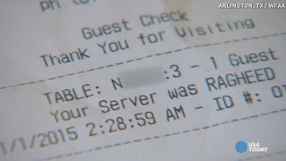 Waiter fired over racist receipts