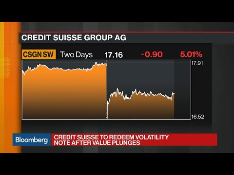 Credit Suisse to Redeem Volatility Note After Value Plunges