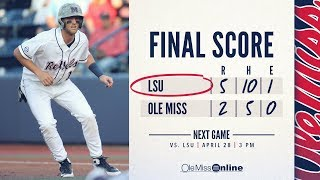 HIGHLIGHTS | Ole Miss vs LSU 2-5 (Game 2) 04/27/18