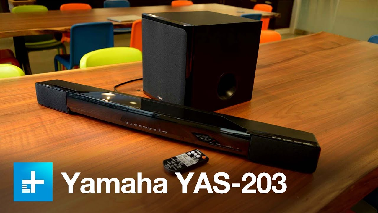 yamaha yas 203 soundbar youtube. Black Bedroom Furniture Sets. Home Design Ideas