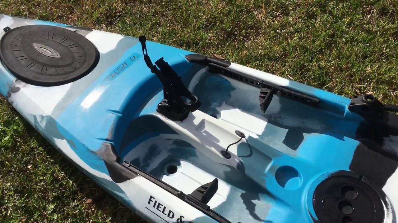Field stream eagle talon 12 foot brace fix youtube for Field and stream fishing kayak