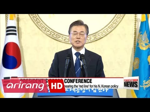 President stress no war on Peninsula during press conference
