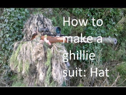 d5b7be0e07676 How to make a ghillie suit  hat - YouTube