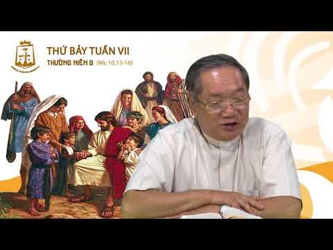 Thứ Bảy Tuần VII Thường Niên Mc 10,13-16_Lm Đaminh Nguyễn Đức Thông CSsR 26/05/2018
