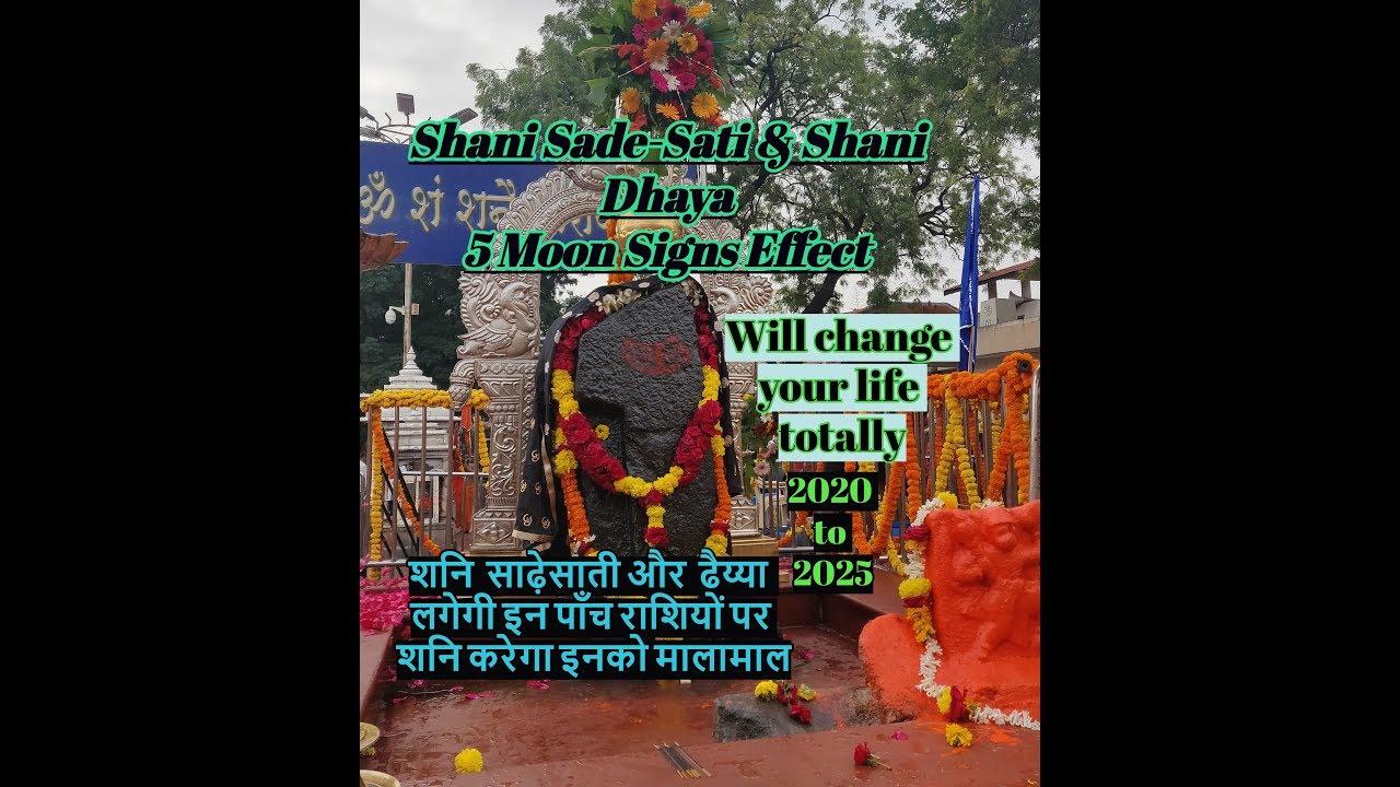 #Shanisadesati #Shanidhaya Shani Sade Sati & Shani Dhaya | Effect in 5 moon  Sign | English