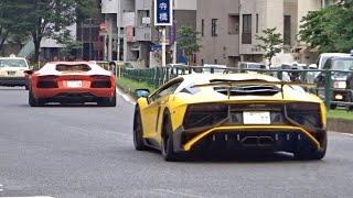 【東京】スーパーカー加速サウンド/Supercars sound in Tokyo. AventadorSV, 4x4, GT3, AMGGTR and more‼️