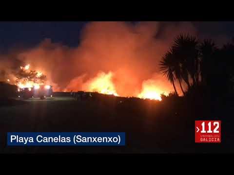 Un fuego afecta a Punta Seame, en Sanxenxo