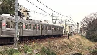 【運用離脱済】東急8500系8640F 等々力~上野毛 走行シーン