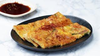 オートミールで簡単ヘルシーチヂミ♪ / Korean Pancake Made With Oatmeal