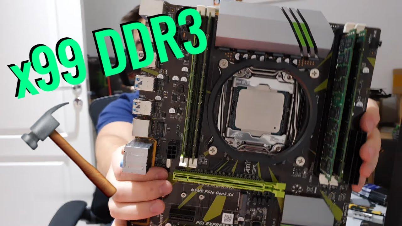 Материнская плата х99 с DDR3 - PlexHD ZX X93D3 V1.2