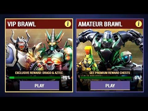 Real Steel Champions VIP BRAWL - DRAGO & AZTEC #7 ROBOTS PRO Series of fights NEW ROBOT(Живая Сталь)
