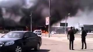 Пожар в Бухаре. Сгорел ресторан - «Камыш Бар»