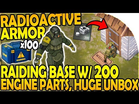RADIOACTIVE ARMOR - 200 ENGINE PARTS in BASE RAID - Last Day On Earth Survival 1.7.12 Update