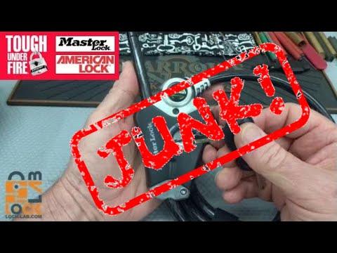 (931) Master Lock's Python Cable Lock (Junk!)