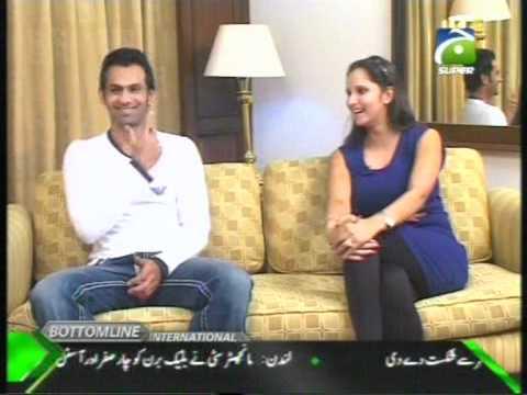 Sania Mirza & Shoaib interviewed on Geo Super to Mirza Iqbal Baig Part (2)