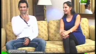 Sania Mirza & Shoaib interviewed on Geo Super to Mirza Iqbal Baig Part (2)
