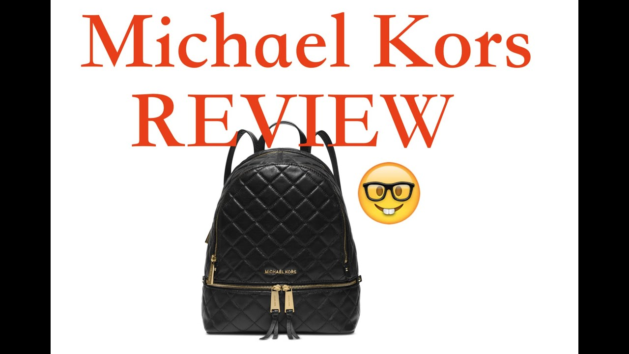 6b9cfa82fca6 Michael Kors Rhea Zip Medium Backpack REVIEW - YouTube