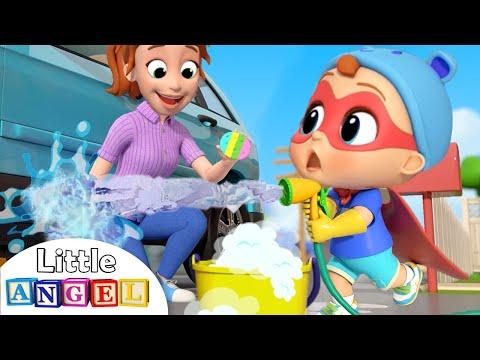 This Is The Way I Help Mommy | Little Angel Kids Songs \u0026 Nursery Rhymes
