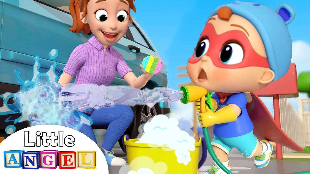 This Is The Way I Help Mommy   Little Angel Kids Songs & Nursery Rhymes
