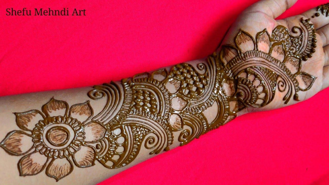 hand mehandi design photo