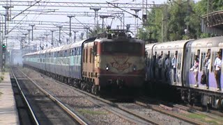 Old warrior ET WAM-4 6P Madhya Pradesh Sampark Kranti accelerates, and thrashes EMU!!