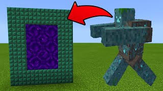 How To Make a Portal to the Mutant Drowned Dimension in MCPE (Minecraft PE)