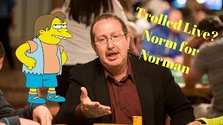 Trolled Live? Norm for Norman Chad