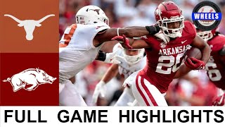 #15 Texas vs Arkansas Highlights   College Football Week 2   2021 College Football Highlights