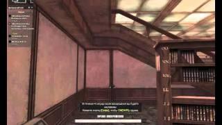 библиотека прострел+нож под лесенкой