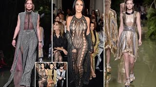 Kim Kardashian going underwear free in a barely there mesh catsuit leads the glamour | J21 News Tube