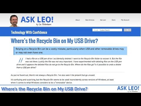 Where's the Recycle Bin on My USB Drive? - Ask Leo!