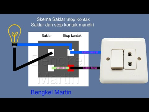 Cara Pasang Stop Kontak Saklar Dual Di Tembok Rangkai Kabel Youtube