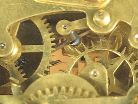 Watch Movement Diagram Homeline Breaker Panel Wiring Recoil Escapement Of Small Ansonia Mantel Clock - Youtube