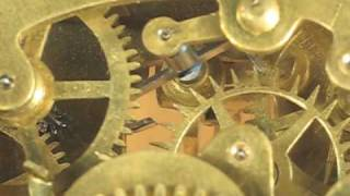 Recoil Escapement Of Small Ansonia Mantel Clock Movement