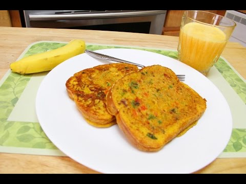 No Eggs Bread Omelette Video Recipe By Bhavna | Quick Easy Breakfast