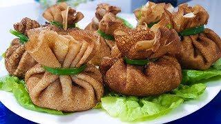 Закуска Фаршированные Мешочки из Блинов /  Простой Рецепт на Праздничный стол.