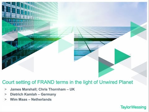 Court setting of FRAND terms in the light of Unwired Planet