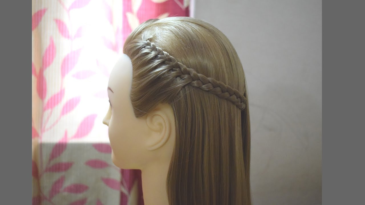 Easy Quick Braided Hairstyle for School Girls  Everyday Hairstyles for  Girls 10 #hairstyles10